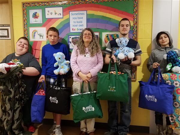 CiTi students create and donate items to children in foster care.