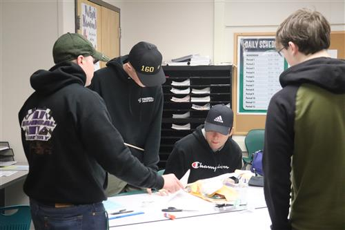 P-TECH Students work on design