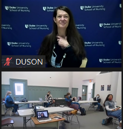 students connect virtually with nursing school staff