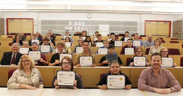 P-TECH students receive workkeys credential.