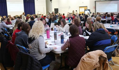 Educators discuss topics on literacy at a session recently