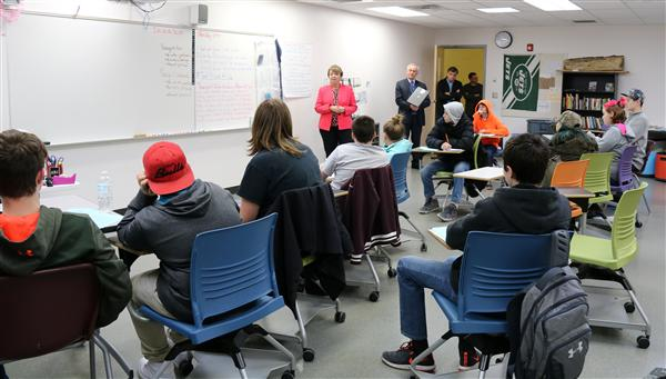NYS Senator Patty Ritchie visits ptech class