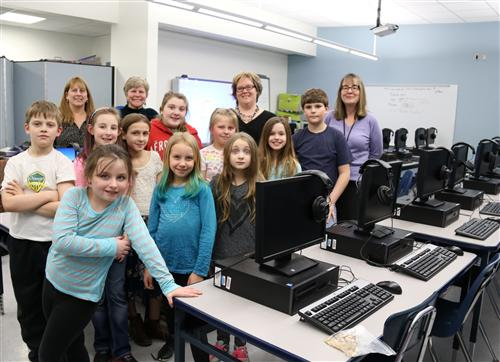 APW Teachers & Students for morning announcements